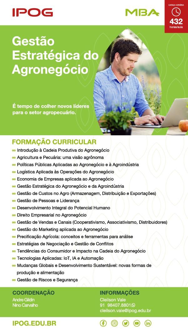 MBA GESTÃO ESTRATÉGICA DO AGRONEGÓCIOS