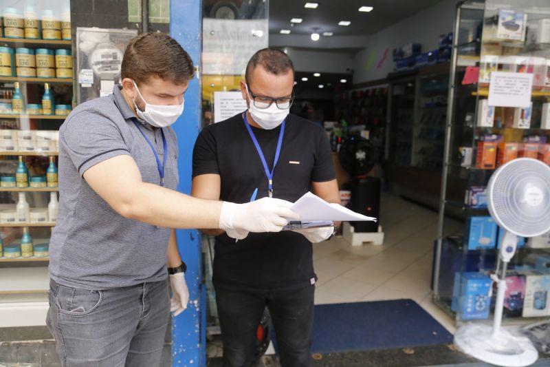 Por conta da pandemia de Covid-19, horário do comércio estabelecido em decreto é fiscalizado