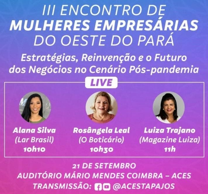 III ENCONTRO DE MULHERES EMPRESÁRIAS DO OESTE DO PARÁ