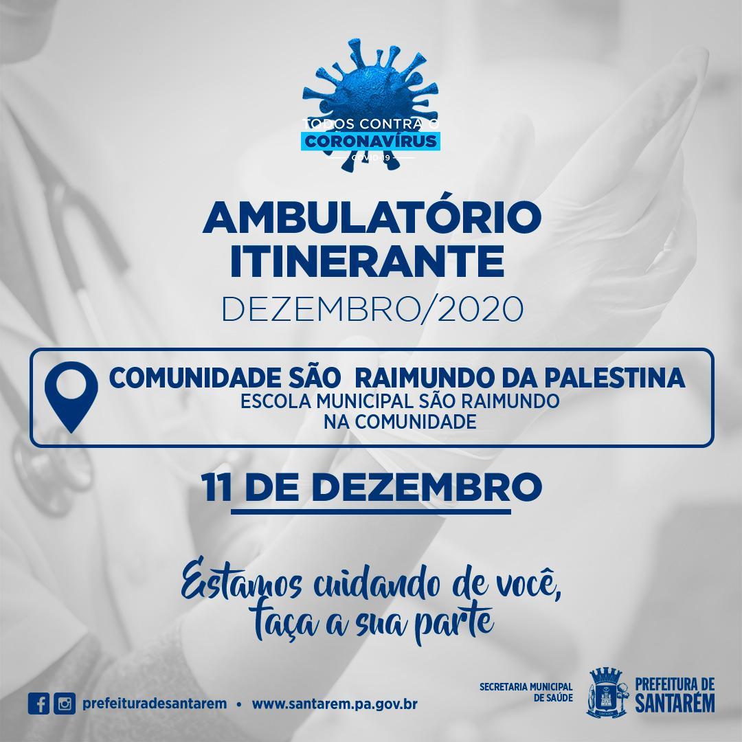 Ambulatório Itinerante Comunidade São Raimundo da Palestina